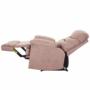 Kép 27/27 - LAMBERT Állítható masszázs  fotel,  fekete bársony anyag