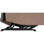 Kép 5/27 - LAMBERT Állítható masszázs  fotel,  fekete bársony anyag