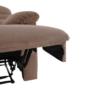 Kép 16/27 - LAMBERT Állítható masszázs  fotel,  fekete bársony anyag