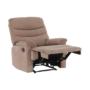 Kép 19/27 - LAMBERT Állítható masszázs  fotel,  fekete bársony anyag