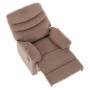 Kép 20/27 - LAMBERT Állítható masszázs  fotel,  fekete bársony anyag
