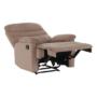 Kép 21/27 - LAMBERT Állítható masszázs  fotel,  fekete bársony anyag