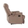 Kép 24/27 - LAMBERT Állítható masszázs  fotel,  fekete bársony anyag