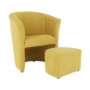 Kép 4/21 - ROSE Klub fotel puffal,  mustár