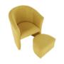Kép 5/21 - ROSE Klub fotel puffal,  mustár