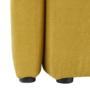 Kép 12/21 - ROSE Klub fotel puffal,  mustár