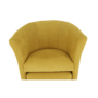 Kép 13/21 - ROSE Klub fotel puffal,  mustár