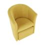 Kép 14/21 - ROSE Klub fotel puffal,  mustár