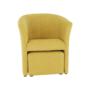 Kép 20/21 - ROSE Klub fotel puffal,  mustár
