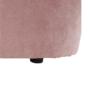 Kép 2/20 - ROSE Fotel puffal,  rózsaszín