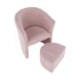 Kép 9/20 - ROSE Fotel puffal,  rózsaszín