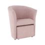Kép 14/20 - ROSE Fotel puffal,  rózsaszín
