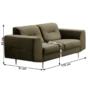 Kép 2/3 - LEXUS 2-ülés,  zöld/réz