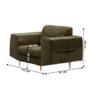 Kép 2/3 - LEXUS Fotel,  zöld/réz