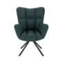 Kép 8/27 - KOMODO Dizájnos pörgő fotel, zöld/fekete