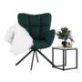Kép 9/27 - KOMODO Dizájnos pörgő fotel, zöld/fekete