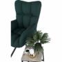 Kép 10/27 - KOMODO Dizájnos pörgő fotel, zöld/fekete