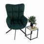 Kép 11/27 - KOMODO Dizájnos pörgő fotel, zöld/fekete