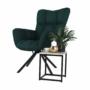 Kép 12/27 - KOMODO Dizájnos pörgő fotel, zöld/fekete