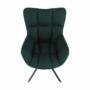 Kép 13/27 - KOMODO Dizájnos pörgő fotel, zöld/fekete
