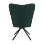 Kép 14/27 - KOMODO Dizájnos pörgő fotel, zöld/fekete