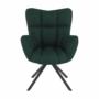 Kép 16/27 - KOMODO Dizájnos pörgő fotel, zöld/fekete