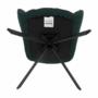 Kép 18/27 - KOMODO Dizájnos pörgő fotel, zöld/fekete