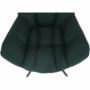 Kép 21/27 - KOMODO Dizájnos pörgő fotel, zöld/fekete