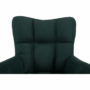 Kép 22/27 - KOMODO Dizájnos pörgő fotel, zöld/fekete