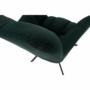 Kép 24/27 - KOMODO Dizájnos pörgő fotel, zöld/fekete
