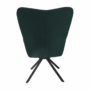 Kép 25/27 - KOMODO Dizájnos pörgő fotel, zöld/fekete
