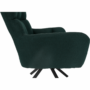 Kép 26/27 - KOMODO Dizájnos pörgő fotel, zöld/fekete