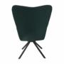 Kép 3/27 - KOMODO Dizájnos pörgő fotel, zöld/fekete