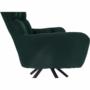 Kép 5/27 - KOMODO Dizájnos pörgő fotel, zöld/fekete