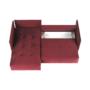 Kép 14/24 - LENY Univerzális ülőgarnitúra,  piros [ROH]