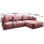 Kép 3/4 - LENY Univerzális ülőgarnitúra,  rózsaszín [ROH]