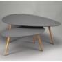 Kép 3/3 - DOBLO Asztal szett,  szürke/szürke