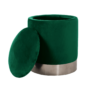 Kép 4/20 - DARON Puff,  zöld Velvet anyag/ezüst króm