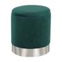 Kép 8/20 - DARON Puff,  zöld Velvet anyag/ezüst króm