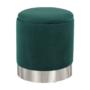 Kép 9/20 - DARON Puff,  zöld Velvet anyag/ezüst króm