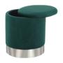 Kép 10/20 - DARON Puff,  zöld Velvet anyag/ezüst króm