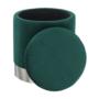 Kép 11/20 - DARON Puff,  zöld Velvet anyag/ezüst króm
