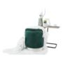 Kép 14/20 - DARON Puff,  zöld Velvet anyag/ezüst króm