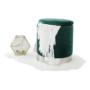 Kép 16/20 - DARON Puff,  zöld Velvet anyag/ezüst króm