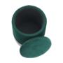 Kép 17/20 - DARON Puff,  zöld Velvet anyag/ezüst króm