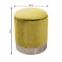 Kép 2/23 - DARON Puff,  arany Velvet anyag/ezüst króm