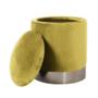 Kép 4/23 - DARON Puff,  arany Velvet anyag/ezüst króm