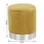 Kép 6/23 - DARON Puff,  arany Velvet anyag/ezüst króm