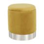 Kép 11/23 - DARON Puff,  arany Velvet anyag/ezüst króm