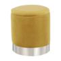 Kép 12/23 - DARON Puff,  arany Velvet anyag/ezüst króm